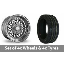 """4 x 16"""" Dare DR-RS Silver Chrome Rivets Alloy Wheel Rims and Tyres -  195/55/16"""