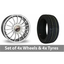 """4 x 17"""" Team Dynamics Monza R Alloy Wheel Rims and Tyres -  215/45/17"""