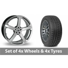 """4 x 19"""" Team Dynamics Jade R Smooth Alloy Wheel Rims and Tyres -  265/30/19"""