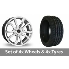 """4 x 20"""" Wolfrace Assassin Silver Alloy Wheel Rims and Tyres -  295/40/20"""