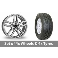 """4 x 19"""" Wolfrace Temper Silver Alloy Wheel Rims and Tyres -  255/50/19"""