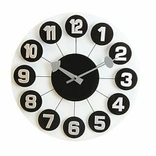 Hometime Glass Wall clock Arabic Numbers on Bubbles Spider