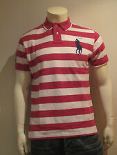 polo ralph lauren homme shirt polo [ gr. M L XL XXL ] BIG PONY rayures violet