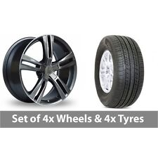 """4 x 19"""" Lenso ES6 Polished Alloy Wheel Rims and Tyres -  255/50/19"""