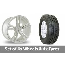 """4 x 19"""" Lenso ES6 White Polished Alloy Wheel Rims and Tyres -  255/50/19"""