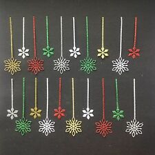 Christmas Hanging Snowflake Die Cuts - Various Colours in sets of 20 pcs
