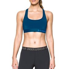 Under Armour Damen Sport BH mit Mid-Stütze Crossback blau