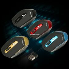2.4GHz Ottico Wireless 1600DPI USB Gioco Ufficio Mouse per Laptop PC D0X8