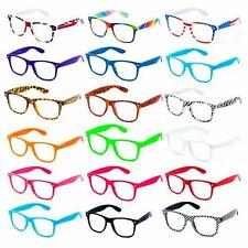 Geek Wayfarer Glasses Retro 80's Fashion Nerd Wayfarers Clear Lens Unisex