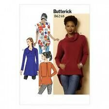 Free UK P&P - Butterick Ladies Easy Sewing Pattern 6248 Tunic Tops (Butte...