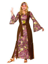 Hippy Costume 60s 1970s Summer Of Love Hippie Womens Ladies Fancy Dress Outfit