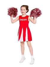 Girls Cheerleader Costume Red Child Fancy Dress Kids High School Outfit 3-13 New
