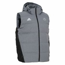 ADIDAS hombre REAL MADRID Chaleco Acolchado Térmico insualted invierno gris