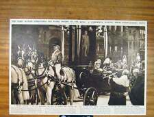 Old Antique Print Lord Mayor Pearl Sword King Ceremony Fine Art 206791
