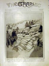 Old Antique Print French Redoubt Perthes German Lines Trench Ww1 1915 86DDD1
