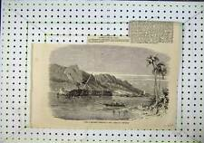 Old Antique Print Earthquake In Japan Sinking The Diana Ship 1856 158N101
