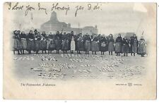 FISHERROW Fishwives of the Fishmarket, Early Postcard Undivided Back Posted 1903