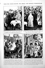 Old Print Begum Bhopal Veiled Prince Wales Stores Arms Germany 1922 347P260
