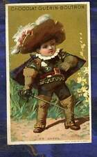 Chromo Guerin-Boutron Mousquetaire Musketeer Vallet Minot Old trade Card 1890