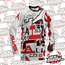 Alias Jersey A2 Written rojo Motocross Enduro Cross MTB Quad MX FMX DH FR