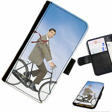 MR01 MR BEAN FUNNY PRINTED LEATHER WALLET/FLIP CASE COVER FOR MOBILE PHONE