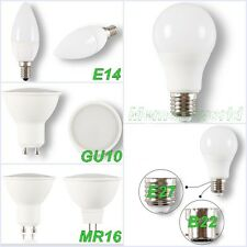 5W 6W 7W 12W GU10 MR16 E27 B22 E14 Lampadine LED Faretto Alta Potenza Light UK