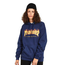 Thrasher - Women's Flame Hoodie Navy Kapuzenpullover Hooded Sweater