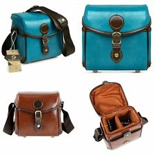 Waterproof Vintage Synthetic Leather DSLR SLR Camera Bag Shoulder Messenger Bag