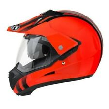AIROH S5 Casco da motocross linea Orange enduro MTB QUAD SUPERMOTO DOWNHILL