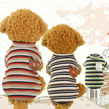 Pet Dog Warm Clothes Coat Jumper Sweater Puppy Cat Patchwork Knitwear Costume