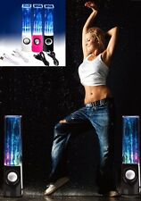 2 x Dancing Water Speakers - Colour Changing LED's - Jet Fountain Water Display
