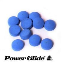 Powerglide Snooker Pool Cue Professional Blue Stick on Tips 9, 10 or 11mm