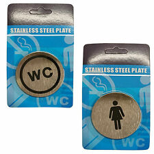 Door Signs Women WC Ladies Toilet Bathroom DoorPlate Metal Sign Office 67mm