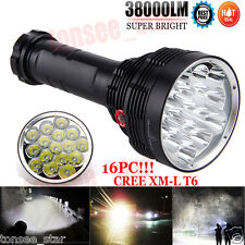 38000Lumens Wasserdicht 16x XM-L T6 LED Flashlight 3Modi Bright Torch Light Lamp