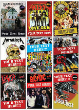 Various Heavy Metal Rock A5 Personalised Birthday Card with Badge Option