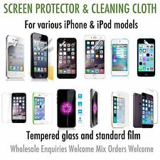 iPhone & iPod touch screen protector wholesale tempered glass or standard