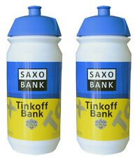 2 x TINKOFF SAXO BANK PRO CYCLING TEAM BIKE - WATER BOTTLE - 500ml