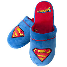Superman Man of Steel Pantofole Da Casa DC Comics Fan Mechandise 38-45 nuovo