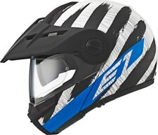 Schuberth E1 Casco Plegable Adventure Casco Hunter Azul Todoterreno + Onroad