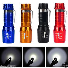 2200 Lumen CREE XM-L T6 LED Flashlight Super Brillante Torcia A zoom regolabile