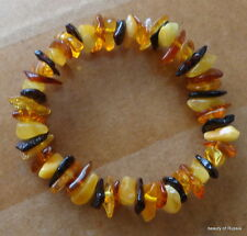 Stretch  multicolor Baltic Amber Bracelet
