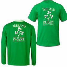 Irlanda Rugby Camisa manga larga camiseta in the Blood Nuevo 100% Algodón