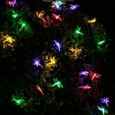 20 LED Solar Powered Dragonfly String Fairy Lights Outdoor Garden Party Lighting
