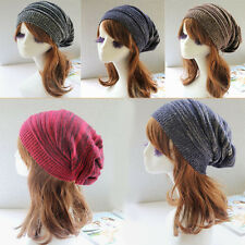 Stylish Women Girls Hand Knit Baggy Beanie Hats Winter Warm Oversized Ski Caps