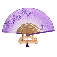 Ventilateur éventail à Main traditionnel Fan de Poche Papillon Bambou Tissu