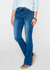 Jeans Maite Kelly 38 40 dark blue used Bootcut Stretchjeans destroyed