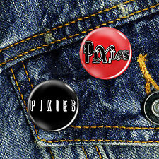 The Pixies Indie Grunge Pin Button Badge Set 2 x 25mm Badges
