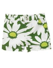 GYMBOREE Daisy Delightful Green Shorts 5 New Flowers Girls Summer