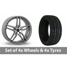 """4 x 18"""" AC Wheels Shot Grey Polished Alloy Wheel Rims and Tyres -  235/45/18"""