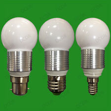 6x 3W LED Ultra Basse Consommation Rond Golf Ampoule 3000K Lampes,E14 SES B22
